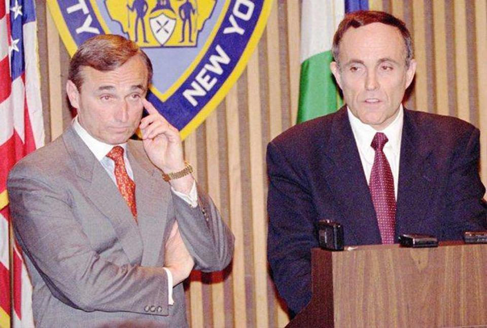 Bratton with then New York mayor Rudy Giuliani in 1995.